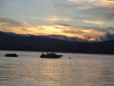 Lake Sevan at Sunset